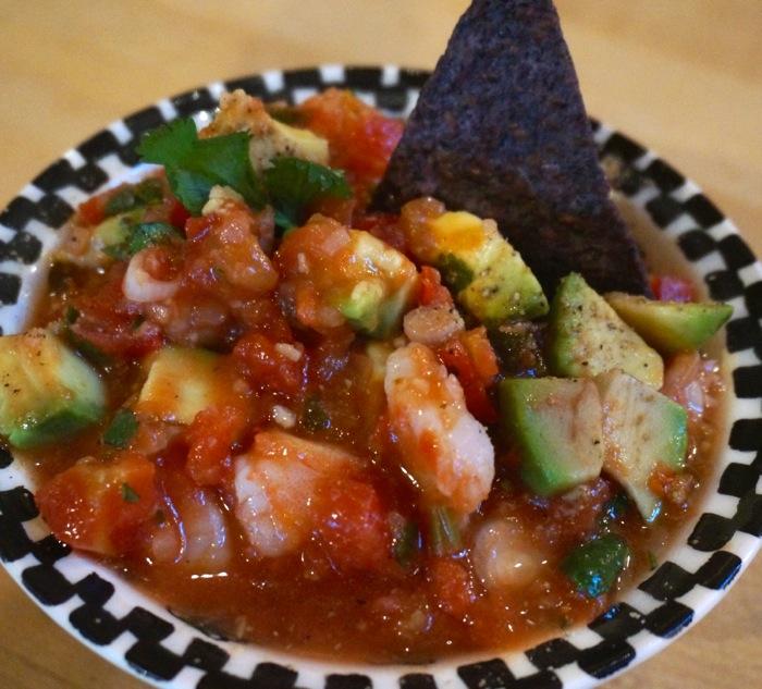 Shrimp & Avocado Salsa photo by Kathy Miller