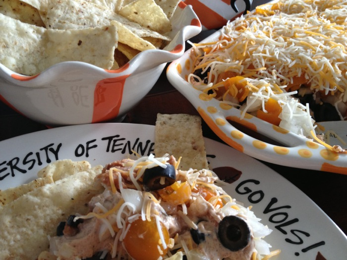 Joy McCabe's Mexican Seven Layered Dip-Tennessee- Go Vols photo by Joy McCabe