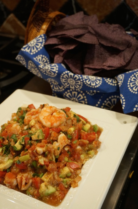 Shrimp Salsa for University of Florida NCAA tournament party photo by Kathy Miller