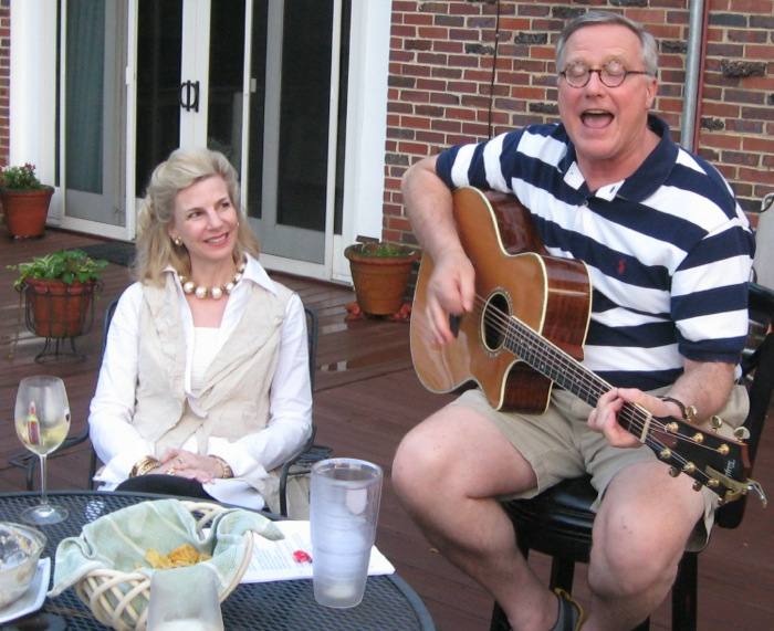 Jacqueline & Rober Morgan having fun at the Masters photo by Kathy Miller