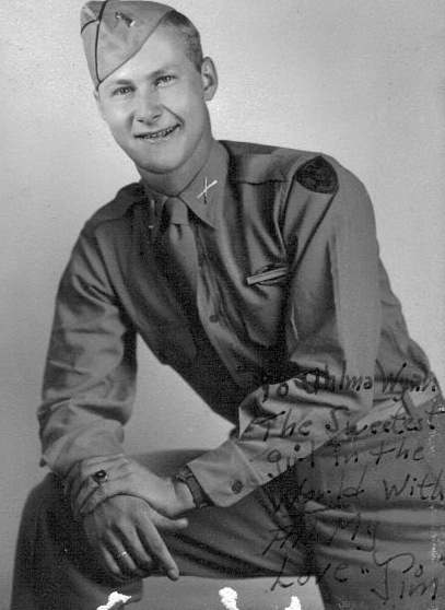 Jim Lovett WWII Vet father of Kathy Miller photo by Kathy Miller