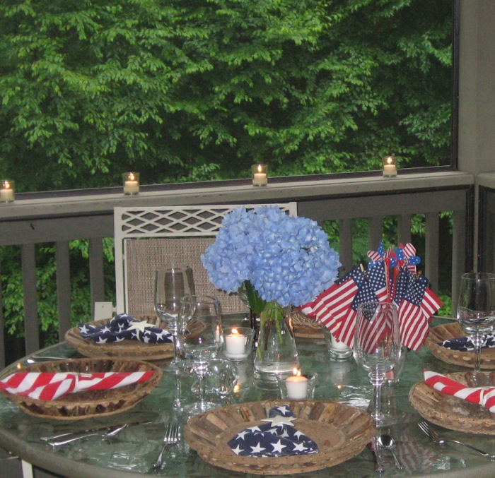 Patriotic Table photo by Kathy Miller