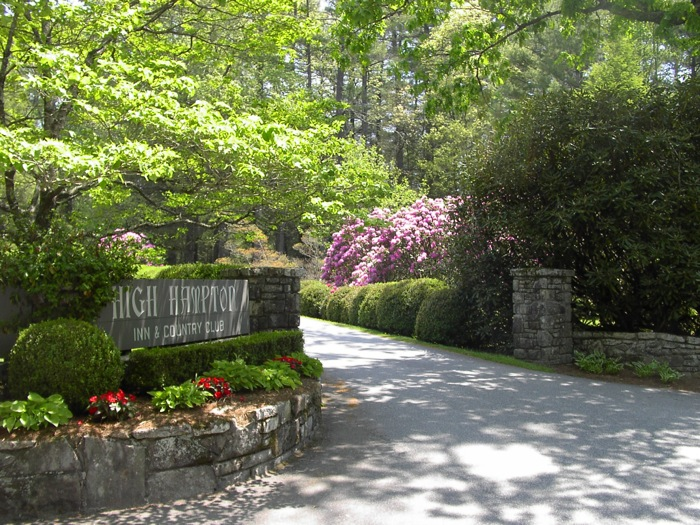 High Hampton Inn with Catawba Rhodos blooming photo by Kathy Miller