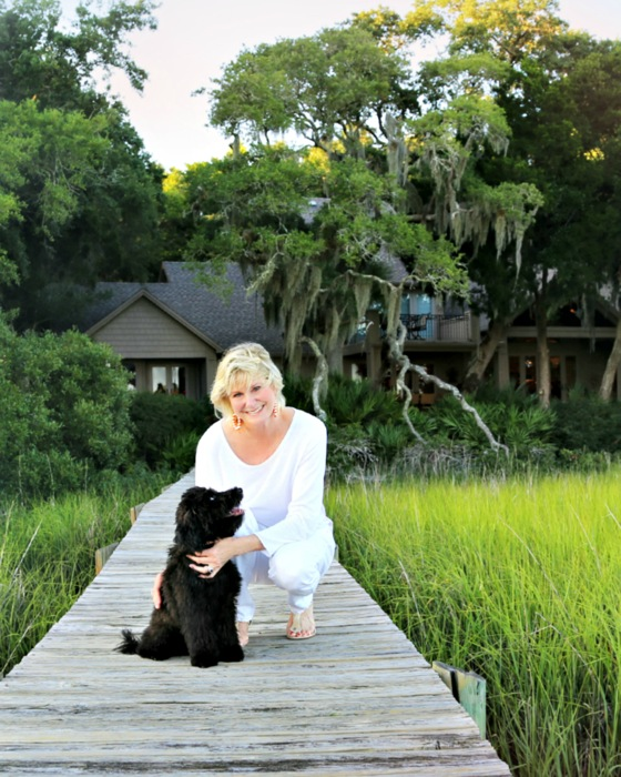 Kathy Miller with Sheldon, photo by Susan Scarborough for South Island Living article