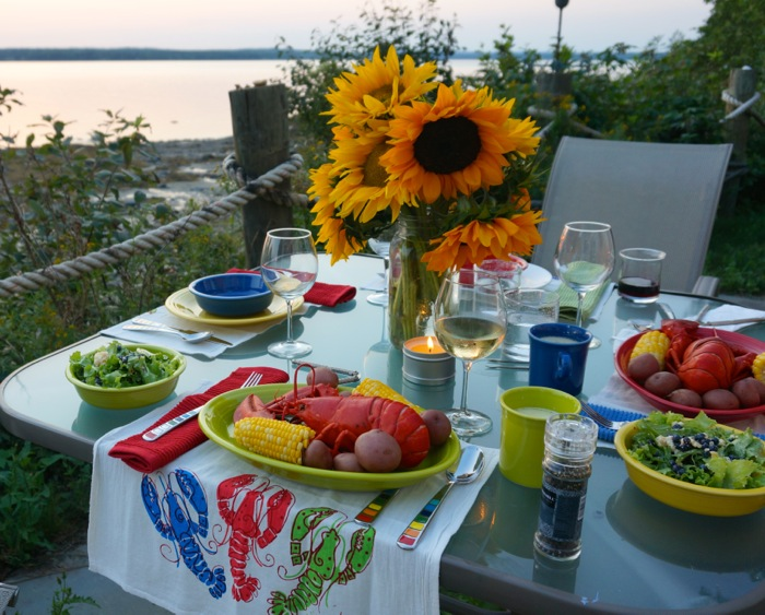Sunset Lobster Boil in Maine photo by Kathy Miller