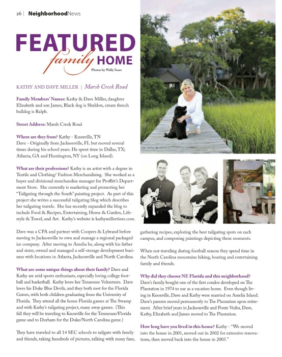 South Island Living Amelia Island Plantation article on Kathy & Dave Miller, photo by Susan Scarborough