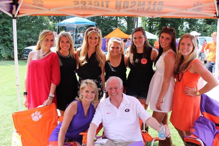 Loran with Clemson & UGA girls phot courtesy of Sherry Thrift Bradshaw and Whitman Publishing