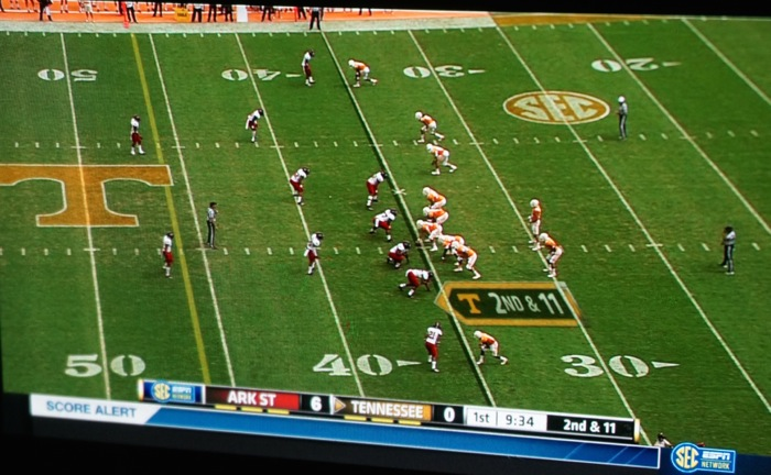 Tennessee spreads the offense against Arkansas State photo by Kathy Miller
