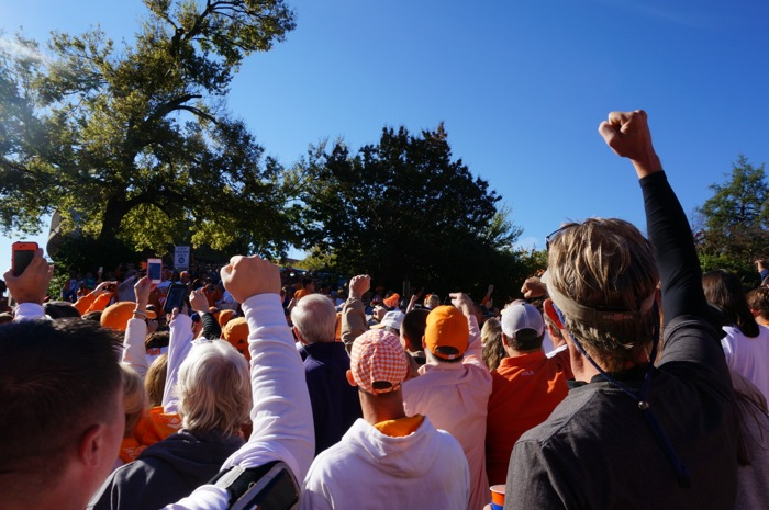 Vol Walk with Fists- Up Defense photo by Kathy Miller
