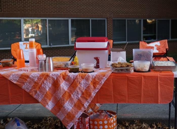 Joy's buffet tailgate photo by Kathy Miller