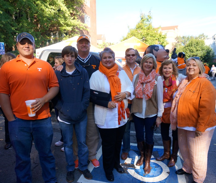 Our Tennessee tailgating contingent photo by Kathy Miller
