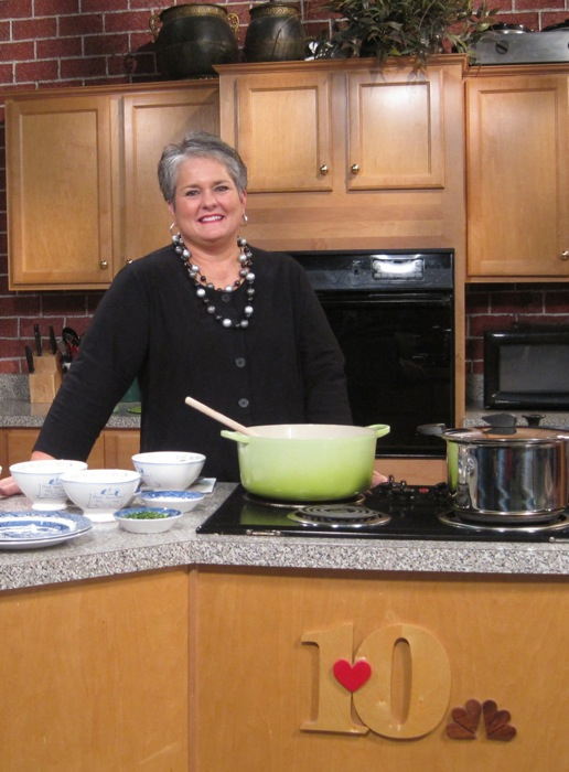 Live at Five at Four WBIR cooking with Joy McCabe photo by Joy McCabe