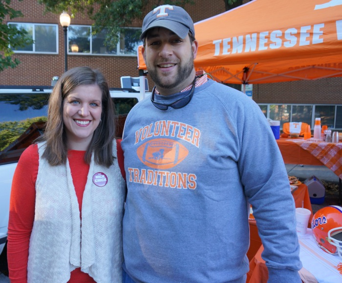 Meghan & Davis Bodie at the Tennessee tailgate photo by Kathy Miller