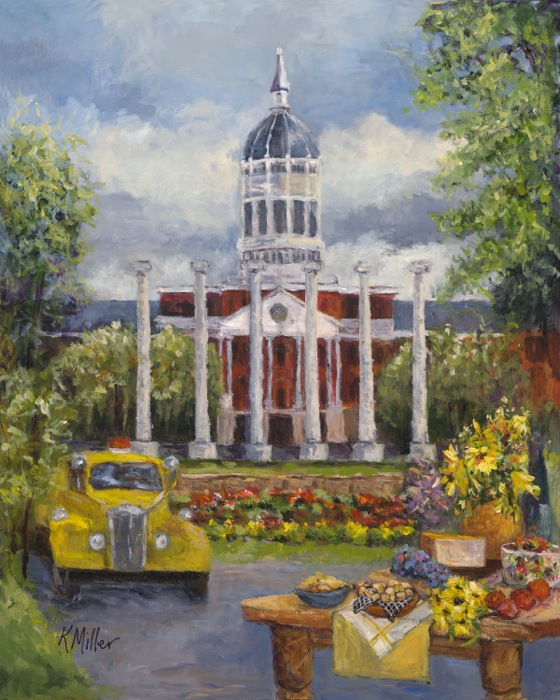 Tailgating In The Zou painting by Kathy Miller, the University of Missouri