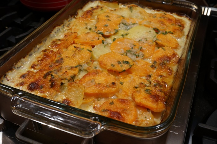Sweet Potato and Yukon Gold Potatoes photo by Kathy Miller
