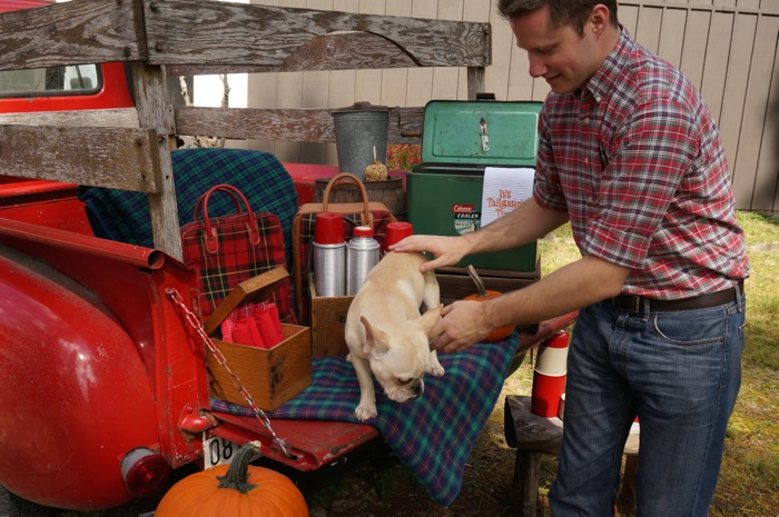 Vintage tailgate with James and Ralph photo by Kathy Miller
