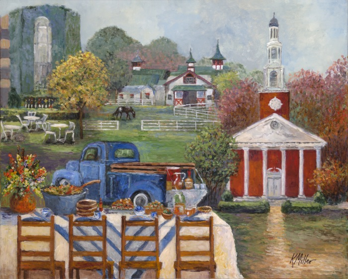 Tailgating In The Kentucky Bluegrass Country painting by Kathy Miller