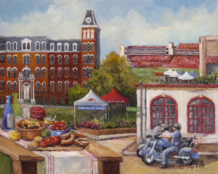 Tailgating In The Ozarks painting by Kathy Miller