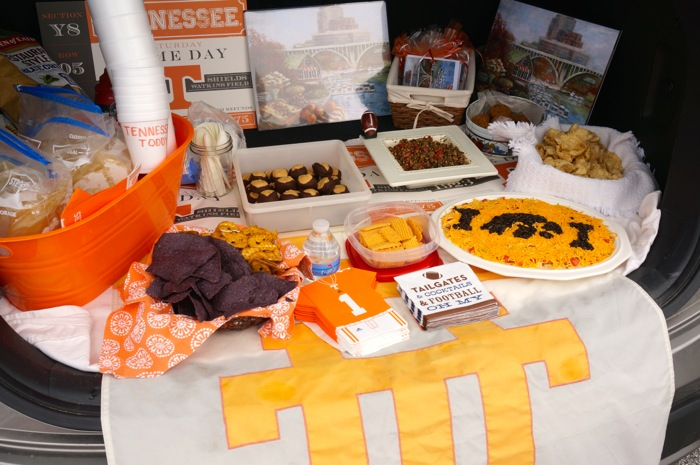 A Tennessee Tailgate with Iowa Hawkeye dip photo by Kathy Miller