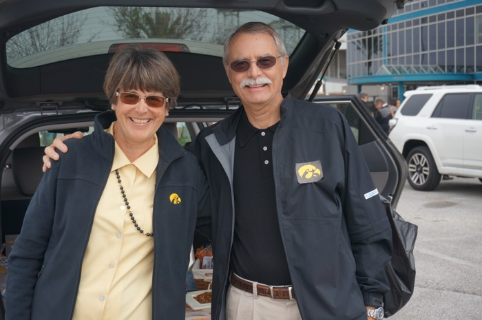 Sue and Steve Braddock Iowa Hawkeye fans photo by Kathy Miller