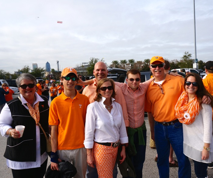 Tennessee buddies travel from Raleigh, NC for Taxslayer bowl game photo by Kathy Miller