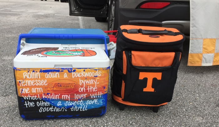 Rollin down a backwood Tennessee byway with my Rolling Cooler photo by Kathy Miller
