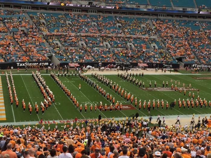 Pregame time UT band photo by Kathy Miller