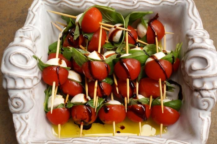 Tomato, Basil and Mozzarella Salad photo by Kathy Miller
