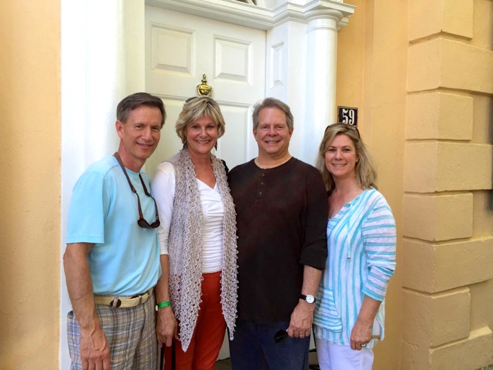 Dave and Kathy Miller with Phil and Laura Huffman at Thomas Rose House, Charleston, SC photo by Kathy Miller