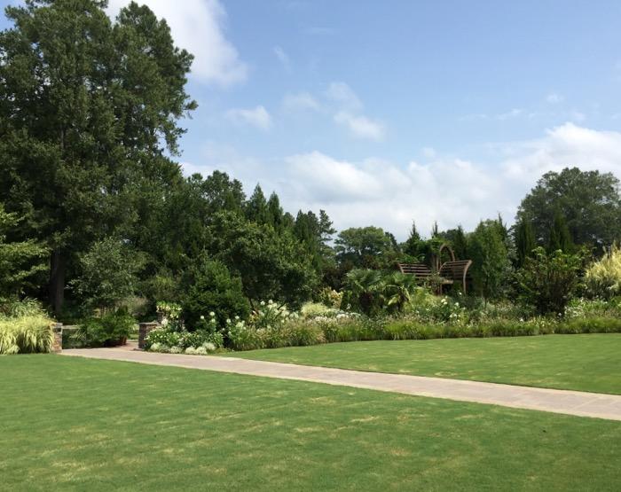 The White Garden, Duke Gardens photo by Kathy Miller