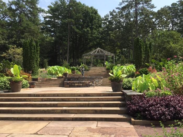 Terraced Garden at Sarah P. Duke Gardens Duke University photo by Kathy Miller