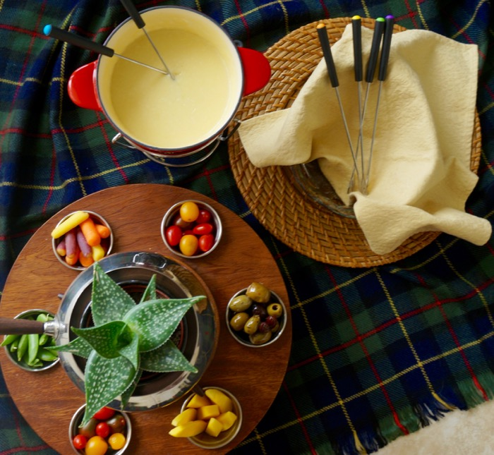 Traditional cheese fondue photo by Kathy Miller
