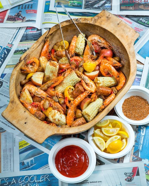 Southern Soul Low Country Boil, Elegant Island Living photo by John Toth, The Darkroom Photography