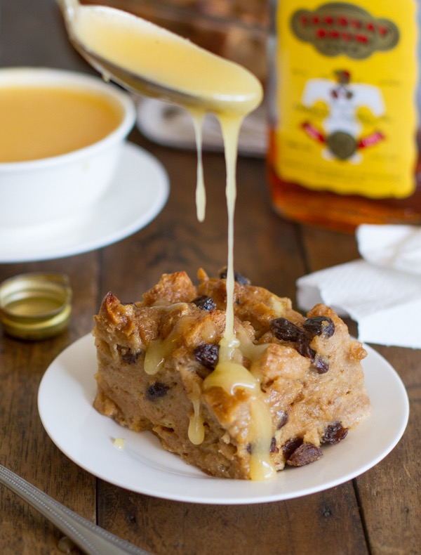 bread pudding with hot butter rum sauce Pinch of Yum