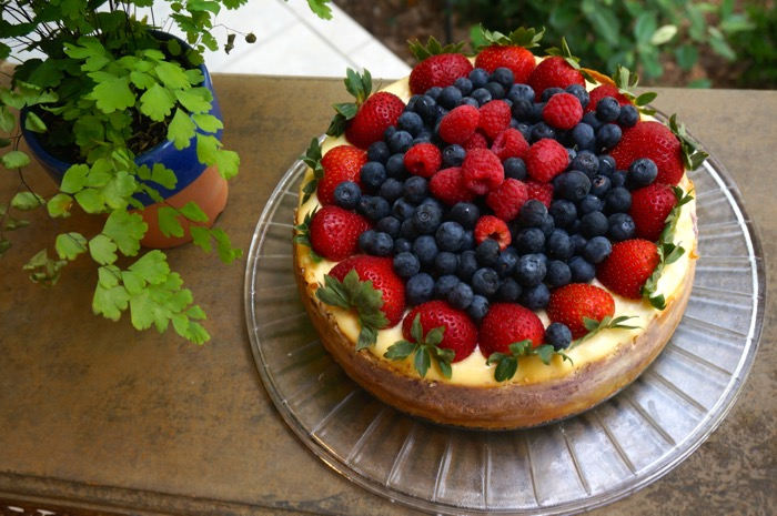 Strawberry and blueberry cheesecake photo by Kathy Miller