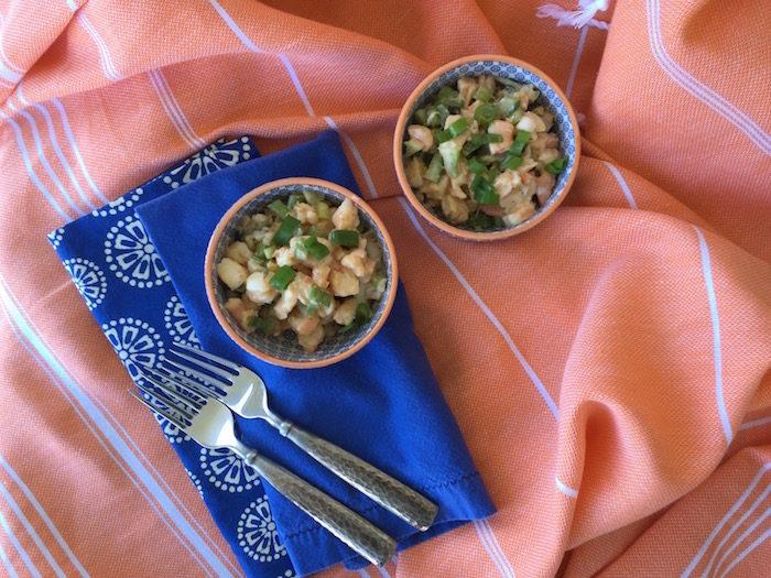 Shrimp Salad with a Sriracha Sauce photo by Kathy Miller