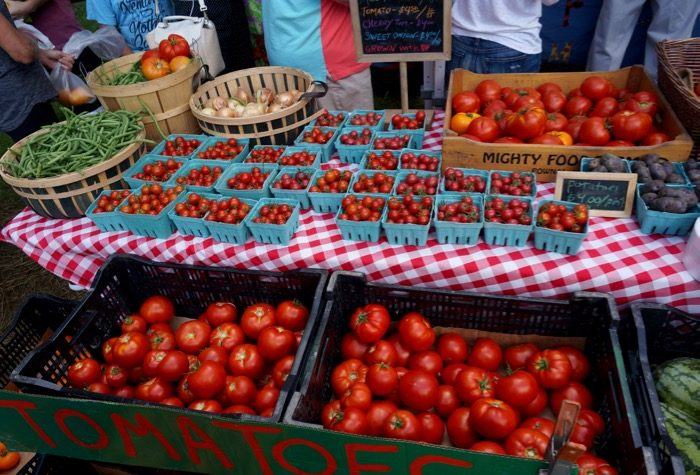 Tomatoes at the Dorset Farmers Market photo by Kathy Miller