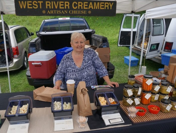 Cheese from West River Creamery photo by Kathy Miller
