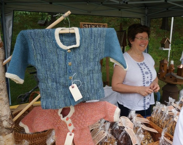 Hand Knit Children's Sweater Dorset Farmers Market photo by Kathy Miller