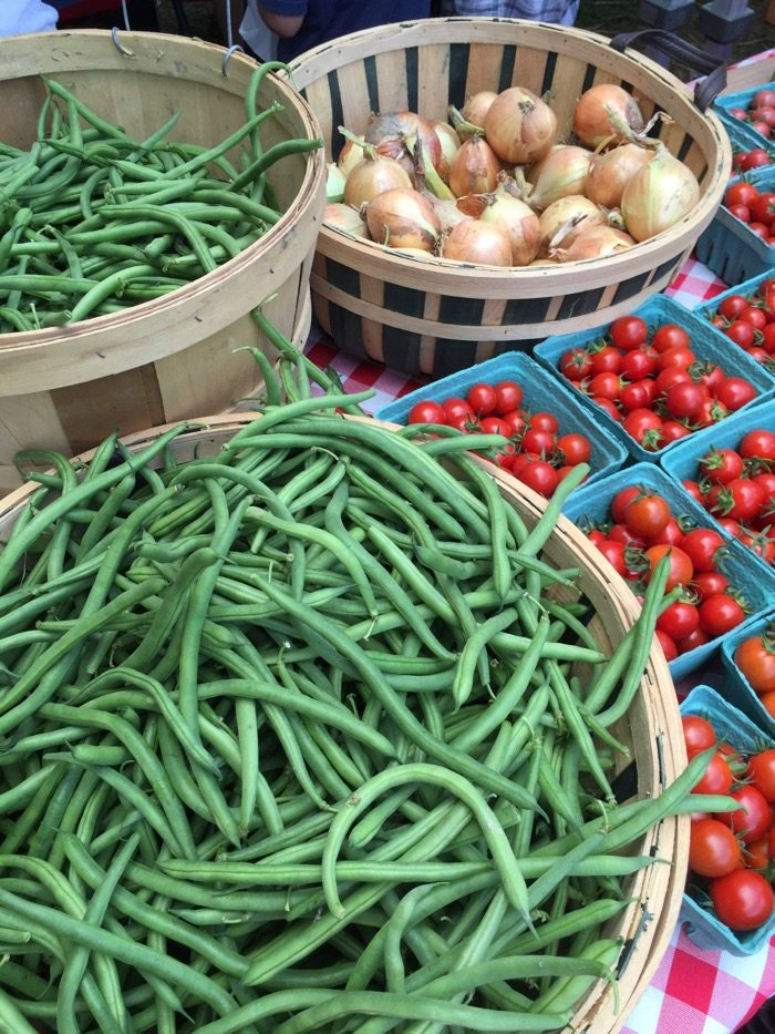 Green beans and tomatoes photo by Kathy Miller