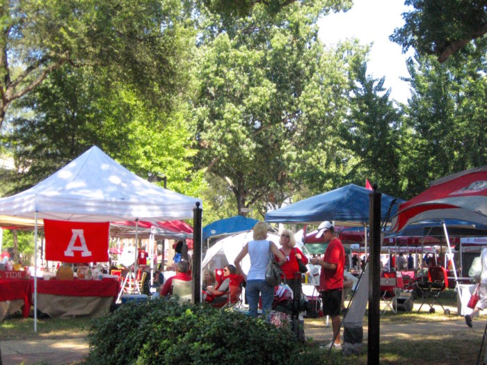 Alabama Tailgating On The Quad photo by Kathy Miller