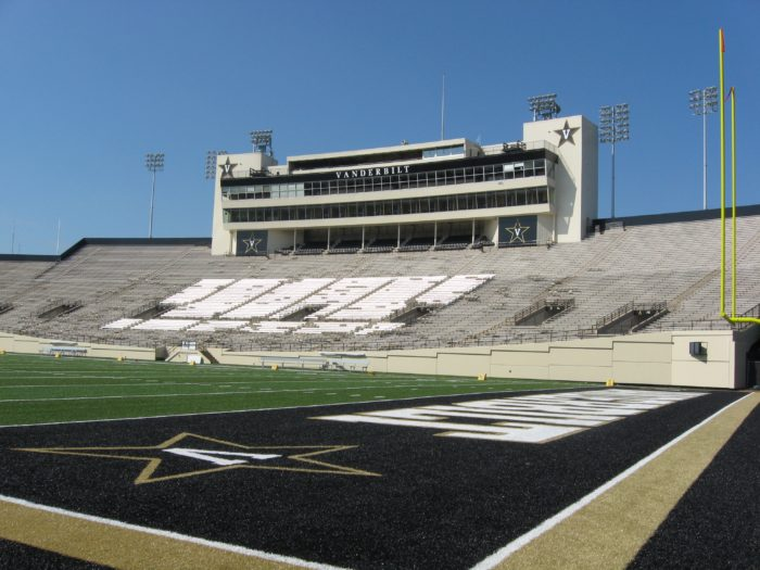 Vanderbilt Stadium Tailgating in Vandyville photo by Kathy Miller