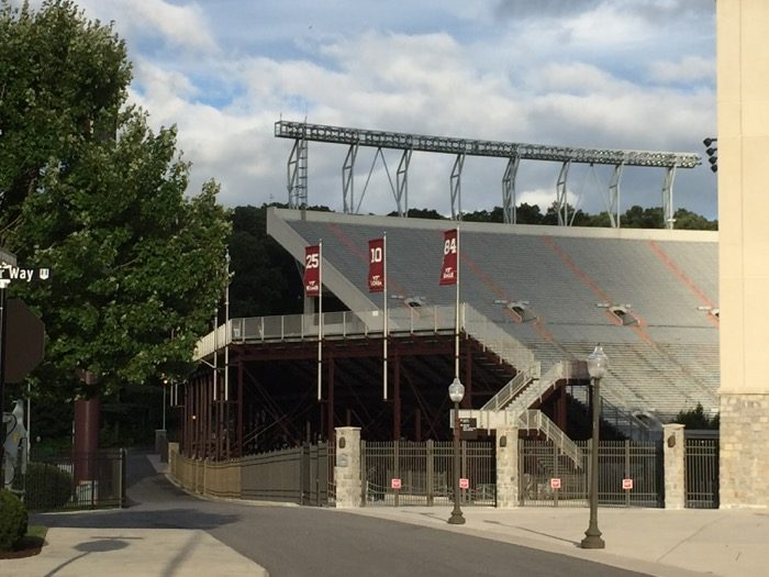 Virginia Tech stadium photo by Kathy Miller