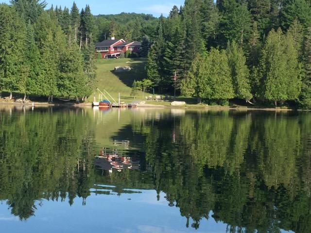 Camp Winape main house, the Ski Lodge from Seymour Lake photo by Janet Kolar