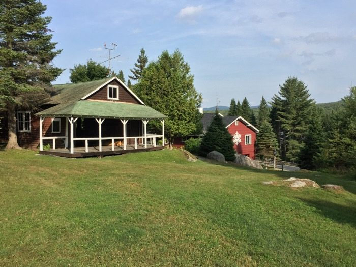 Camp Winape Ski Lodge main house with snowflake photo by Kathy Miller