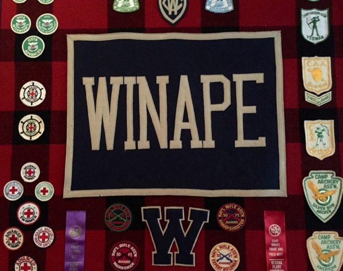 Camp Winape badges photo by Kathy Miller