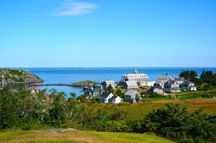 Monhegan Island, Maine from lighthouse photo by Kathy Miller