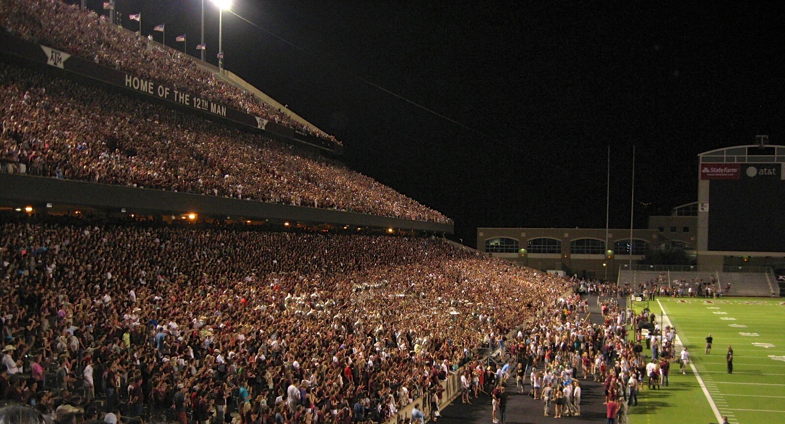 Texas A&M Midnight Yell photo by Kathy Miller