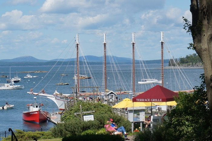 Large sailing ship Bar Harbor, Maine photo by Kathy Miller