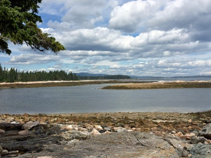 Hiking on Mount Desert Island, Southwest Harbor photo by Kathy Miller